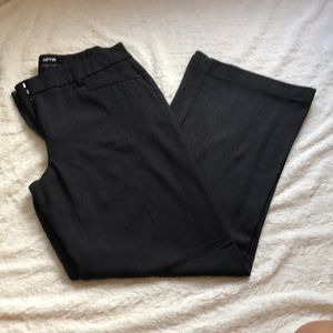 Curvy fit gray work pants